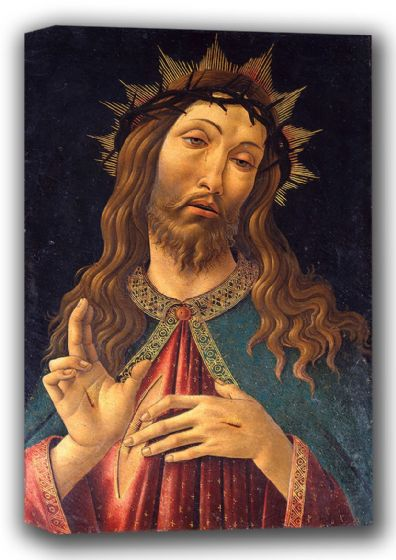 Botticelli, Sandro: Christ Crowned with Thorns (Ecce Homo, or The Redeemer). Fine Art Canvas. Sizes: A4/A3/A2/A1 (001882)